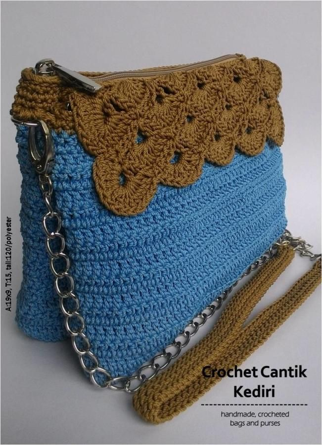 Mini sling bag with flap - Crochet creation by Farida Cahyaning Ati