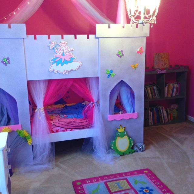 25 best ideas about castle bed on pinterest princess for Princess castle bedroom ideas