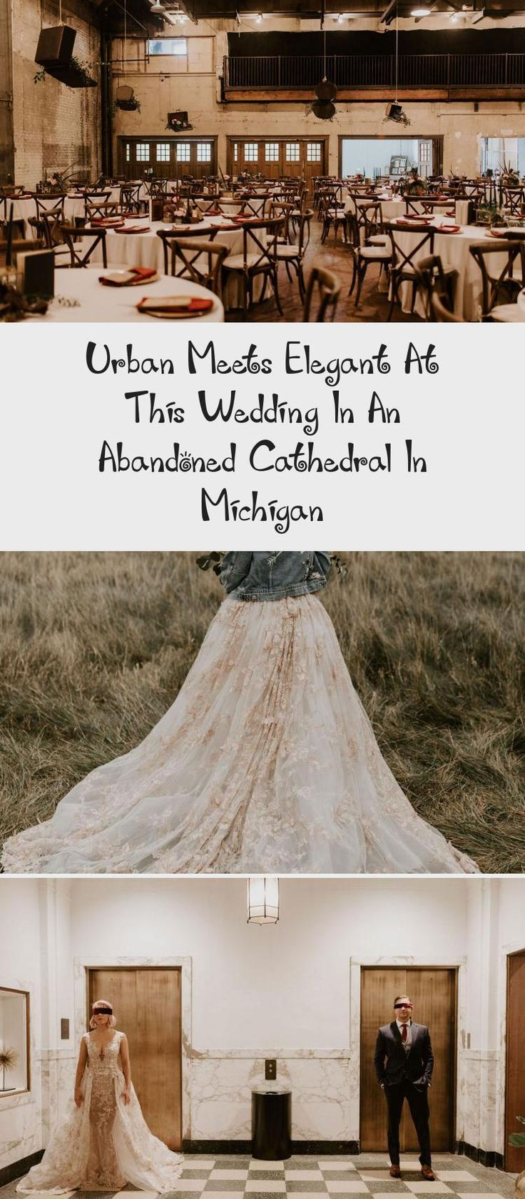 Urban Meets Elegant at this Wedding in an Abandoned Cathedral in Michigan - Green Wedding Shoes #MermaidBridesmaidDresses #SatinBridesmaidDresses #LilacBridesmaidDresses #MixAndMatchBridesmaidDresses #BlackBridesmaidDresses