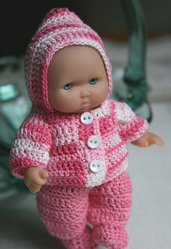 Pdf Pattern Crochet 5 Inch Berenguer Baby Doll Hooded