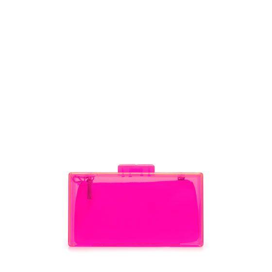 neon clutch - Zara