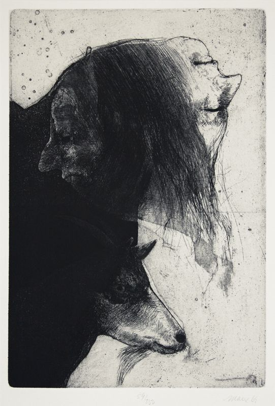 'Janus and Goat' | Robert Ernst Marx, etching