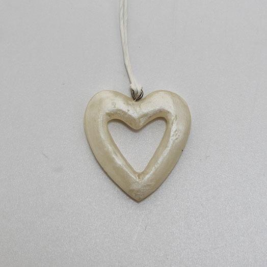 Pearl hjerte – 4 cm – Perlemor