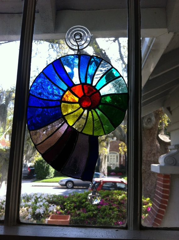 Ultimate Double Rainbow Suncatcher 29 Shades Of Stained