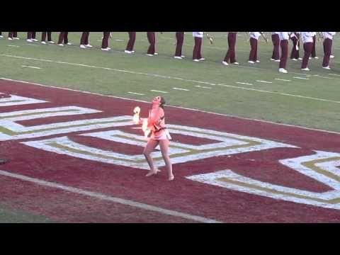 Fire baton at FSU vs UM game