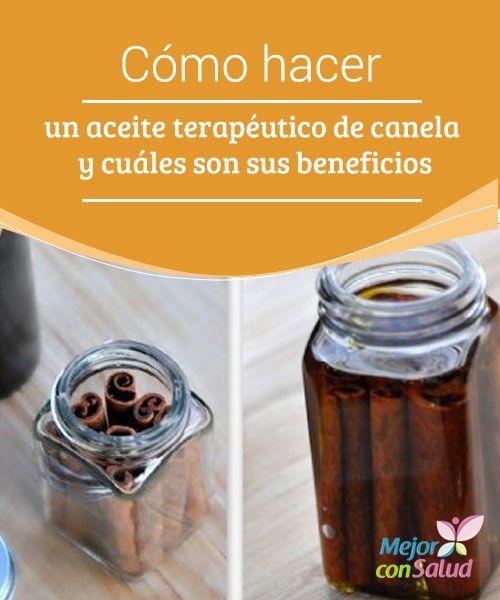 Cómo hacer un aceite terapéutico de canela y cuáles son sus beneficios  La canela es una de las especias más conocidas en todo el mundo, valorada por sus aplicaciones medicinales, gastronómicas y cosméticas.