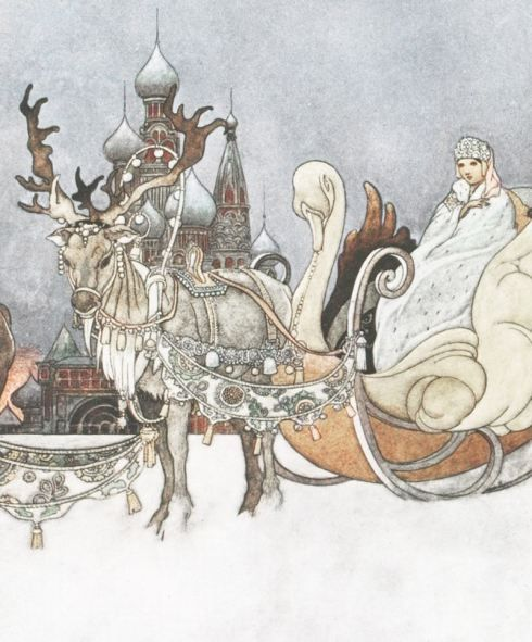 There is [a] great wealth of sacred and magical imagery surrounding the female reindeer and deer in Celtic mythology which often feature tales of white hinds (doe) which are associated with the goddess (who often gives birth to a sun child in the form of a white hind). Fairytales tell us she was ridden by the Snow Queen and peoples of the fairy world.