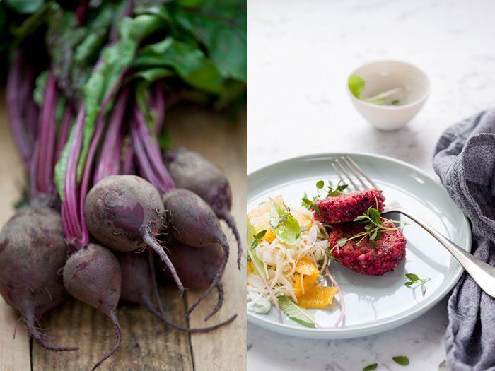 Rödbets- & quinoabiffar med timjan och getost – vegetariskt såklart