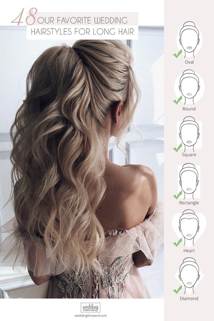 48 Our Favorite Wedding Hairstyles For Long Hair ❤ We make a list of our favorite wedding hairstyles for long hair. Look through it and pick your perfect variant to become the most beautiful bride. #wedding #hairstyles #romanticbridalupdosweddinghairstyles