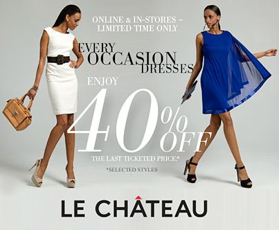 EVERY OCCASION DRESSES  Enjoy 40% OFF the last ticketed price.* *Selected styles