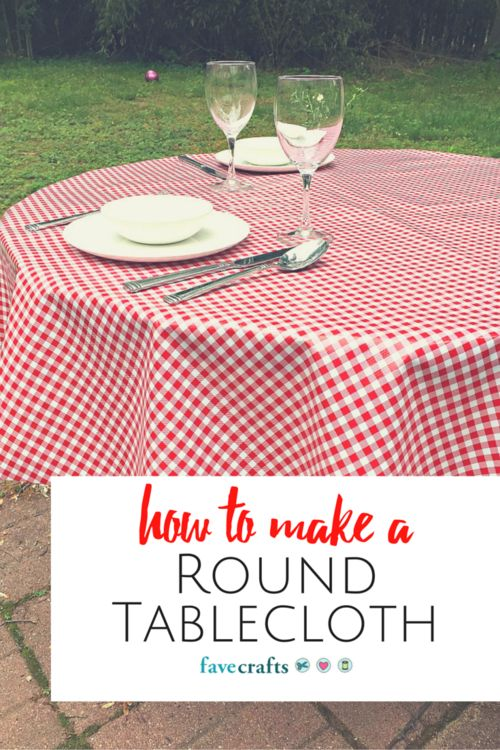 Whether you are looking to create pretty picnic tablecloth patterns or simply need a tablecloth for an indoor event, this insanely simple and easy tutorial will show you exactly How to Make a Round Tablecloth.