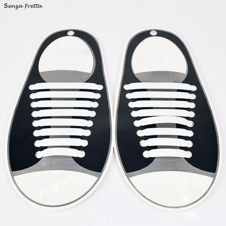 Senza Fretta 16Pcs Lazy No Tie Shoelaces Silicone Shoelaces Elastic Shoe Laces for Sneakers D01382 #clothing,#shoes,#jewelry,#women,#men,#hats,#watches,#belts,#fashion,#style