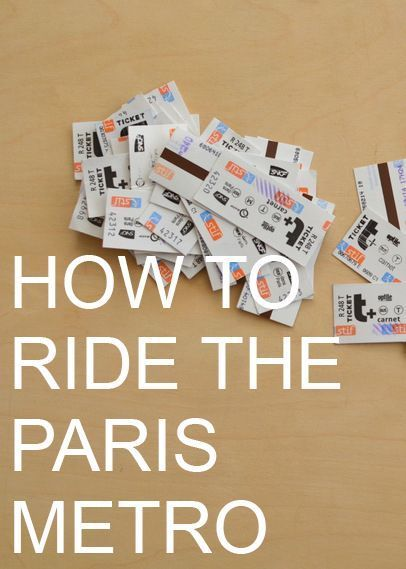How to Ride the Paris Metro by Natalie Parker