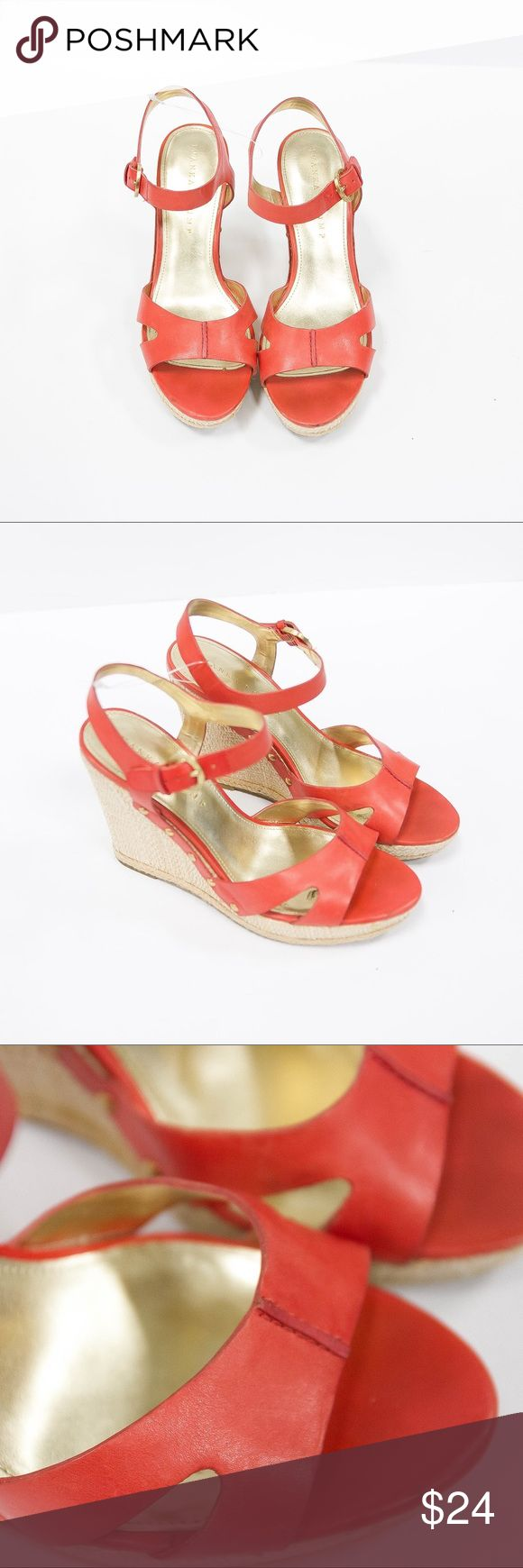 Ivanka Trum Wedges Something to match a colorful sundress ☀️ for the summer ?Salmon Ivanka Trum Wedges 🔥 Ivanka Trump Shoes Wedges