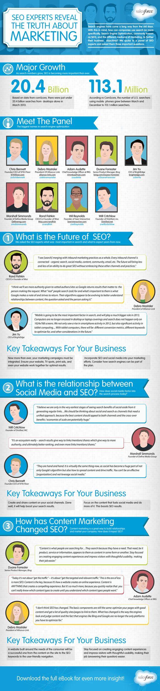 Expertos SEO nos cuentan la verdad sobre el marketing #infografia #infographic #seo