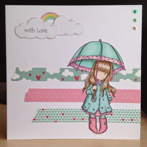 Little Lucy's Handmade Cards: I can sing a rainbow.. (Gorjuss Puddles of love)