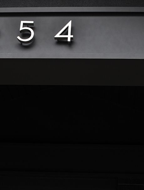 neutra house numbers design michelle wentworth