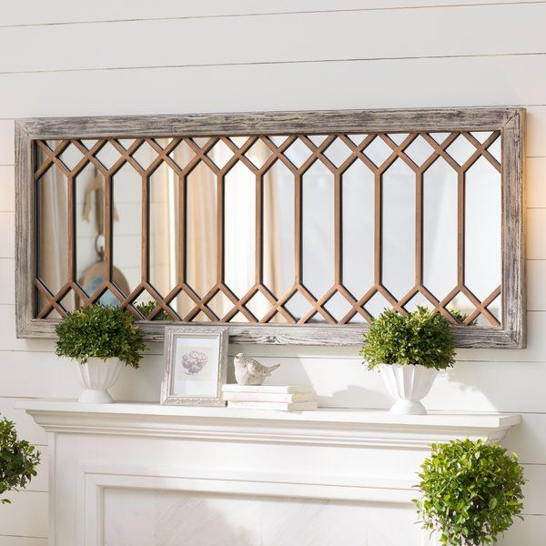 Spanning 60 Wide This Generously Sized Wall Mirror Is Perfect For Sprucing Up Any Wide Open Wall In Y Country Wall Mirrors Farmhouse Wall Mirrors Mirror Wall