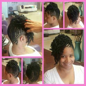 Partial bomb twist cornrow combo by styleseat pro shaketa for Robes de mariage en consignation richmond va