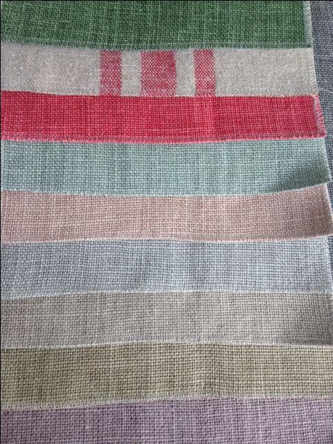 Linens in soft colours. DO&CO made to measure service, wij zijn specialist in het maken van gordijnen en stofferen van stoelen.