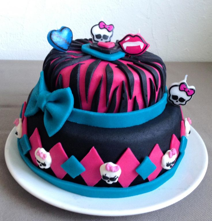 Le gâteau Monster High de Nikita
