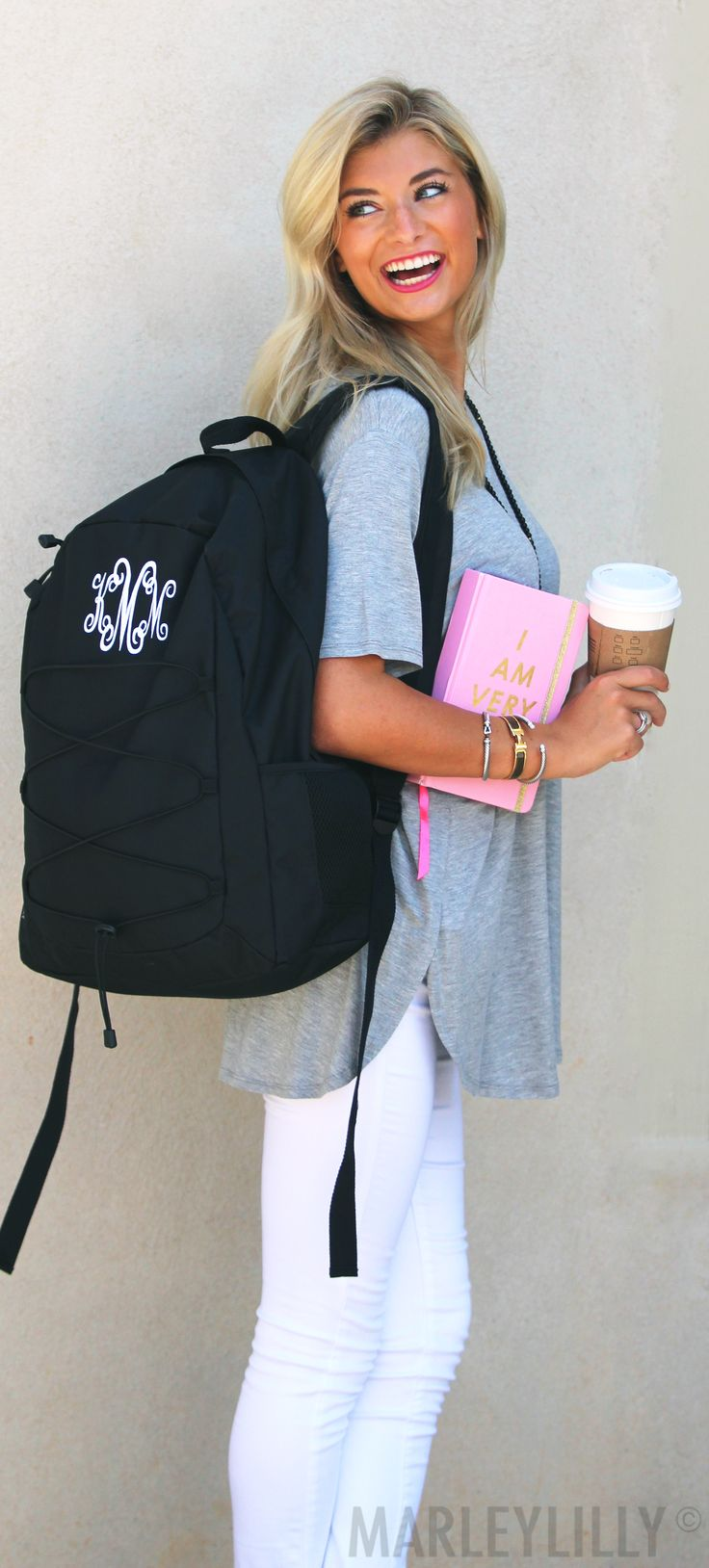 NEW Monogrammed Laptop Backpack is our favorite back to school item! Shop now to personalize yours!