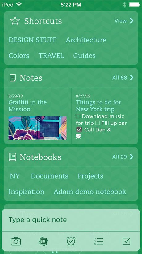Evernote for iOS7