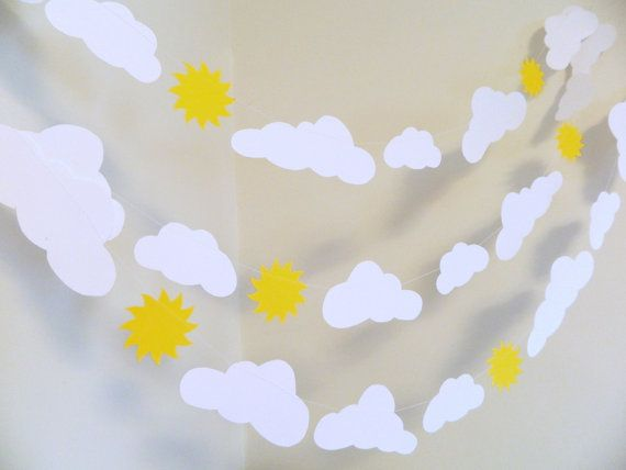 You are my sunshine my only sunshine......  This beautiful paper garland will be a wonderful addition to your home! It will work perfectly for