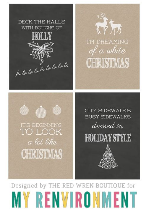 Free Christmas Journaling 3x4 Card Printables from theredwren.com