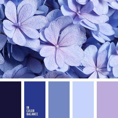 голубой, джинсовый, дизайнерские палитры, подбор цвета, полуночно-синий, почти-черный, синий, сиреневый, темно-фиолетовый, цвет гортензии, цвет джинсы, цвета штормового моря, цветовое решение для дома.