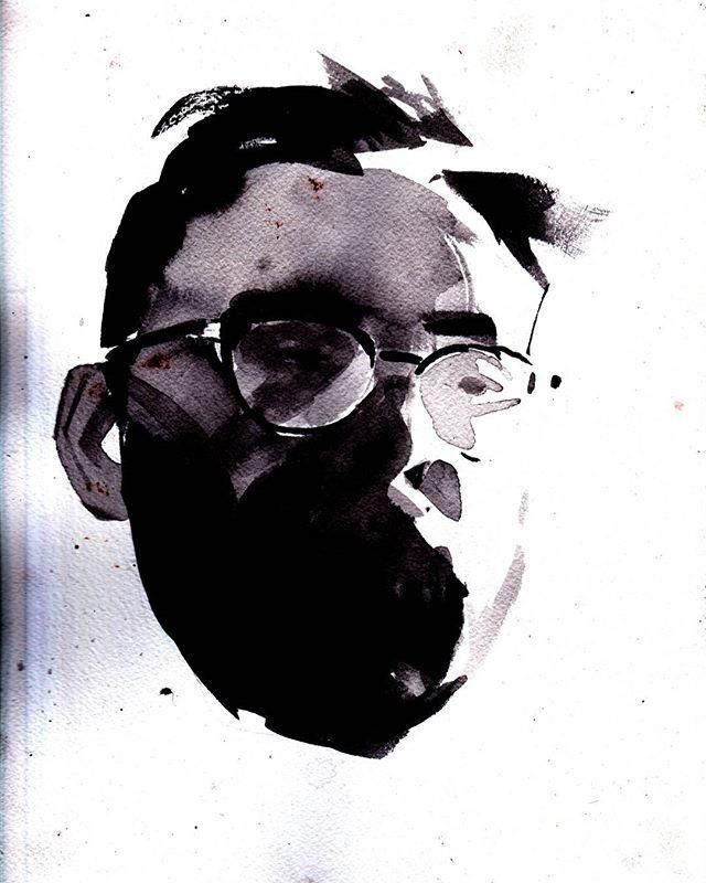 ink self portrait