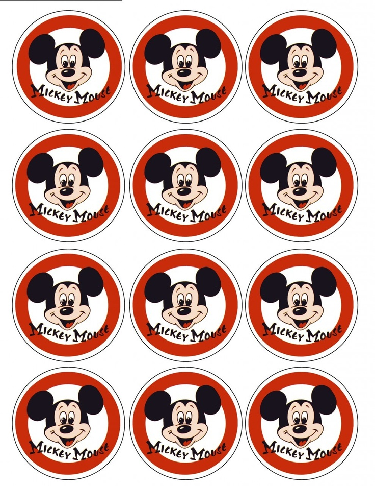 """Single Source Party Supply - 2.5"""" Mickey Mouse Cupcake Edible Icing Toppers"""