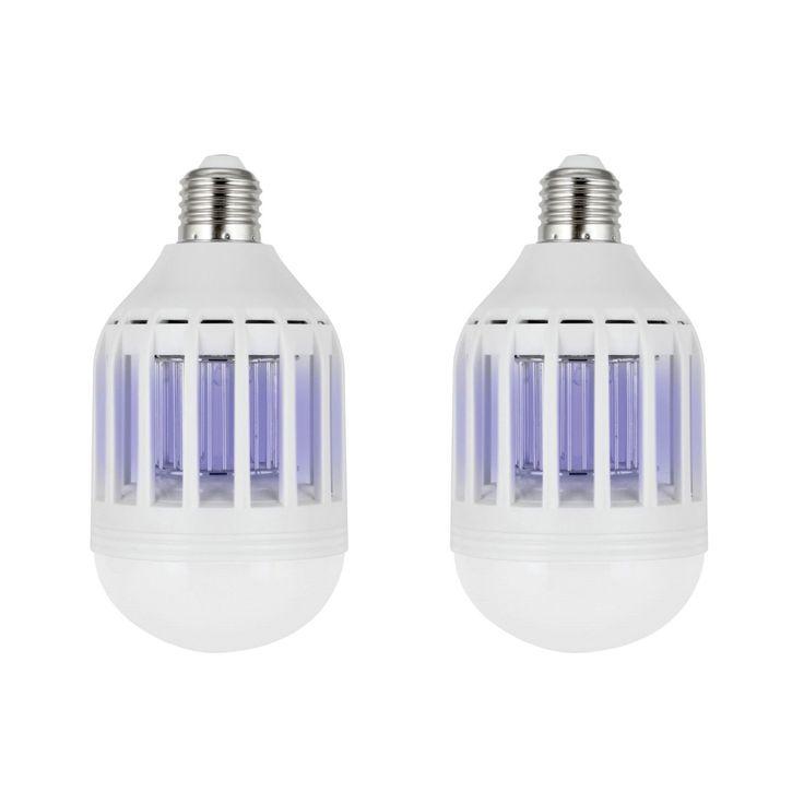 Kalorik ZapBulb 2-in-1 Mosquito Zapper & LED Light Bulb (Set of 2) (Color: White) (ABS)