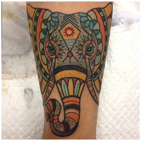 Indian Elephant Head Tattoo