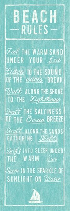Beach Rules Print at Art.com
