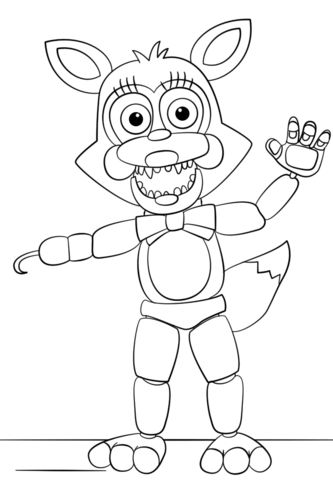 Superb image within fnaf coloring pages printable