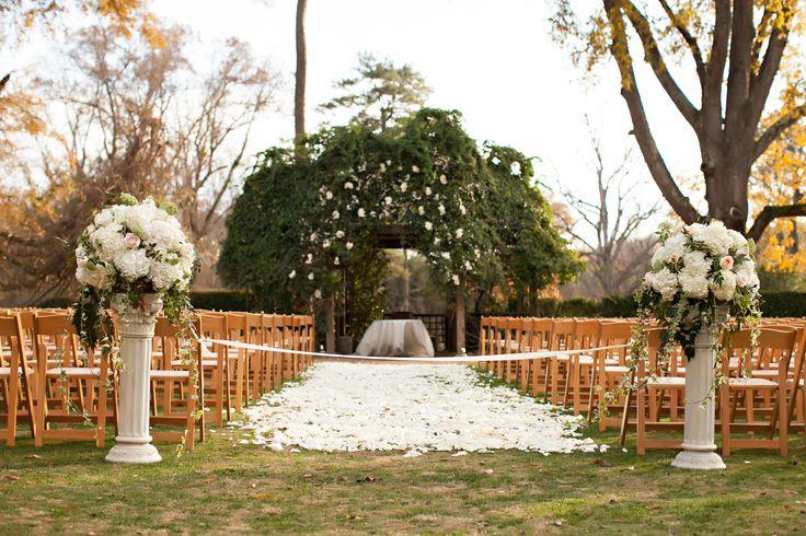 Barnsley Gardens Wedding Ceremony Flowers and decor  Winter/Fall wedding