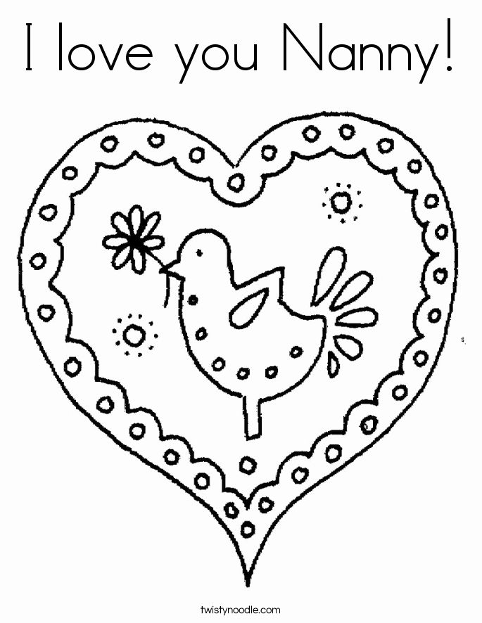 I Love You Coloring Sheet in 2020 | Mom coloring pages, I ...