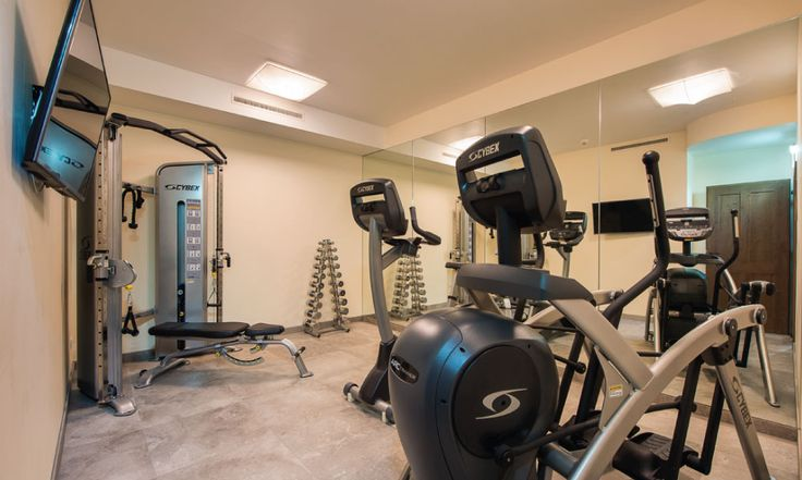 Fully equipped gym in the spa area #skiholiday #gym #fitness #spa #luxurychalet #stanton