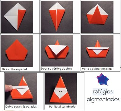 Refúgios Pigmentados: Pai Natal em Origami                                                                                                                                                                                 Mais