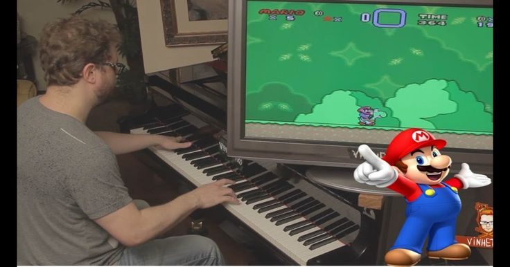 Super Mario World on Piano with Sounds Effects