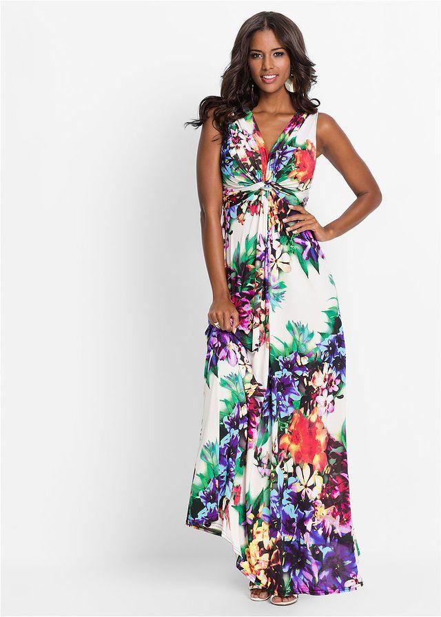 Sukienka Letnia Piekna Letnia Sukienka 139 99 Zl Bonprix White Floral Maxi Dress Maxi Dress Floral Maxi Dress
