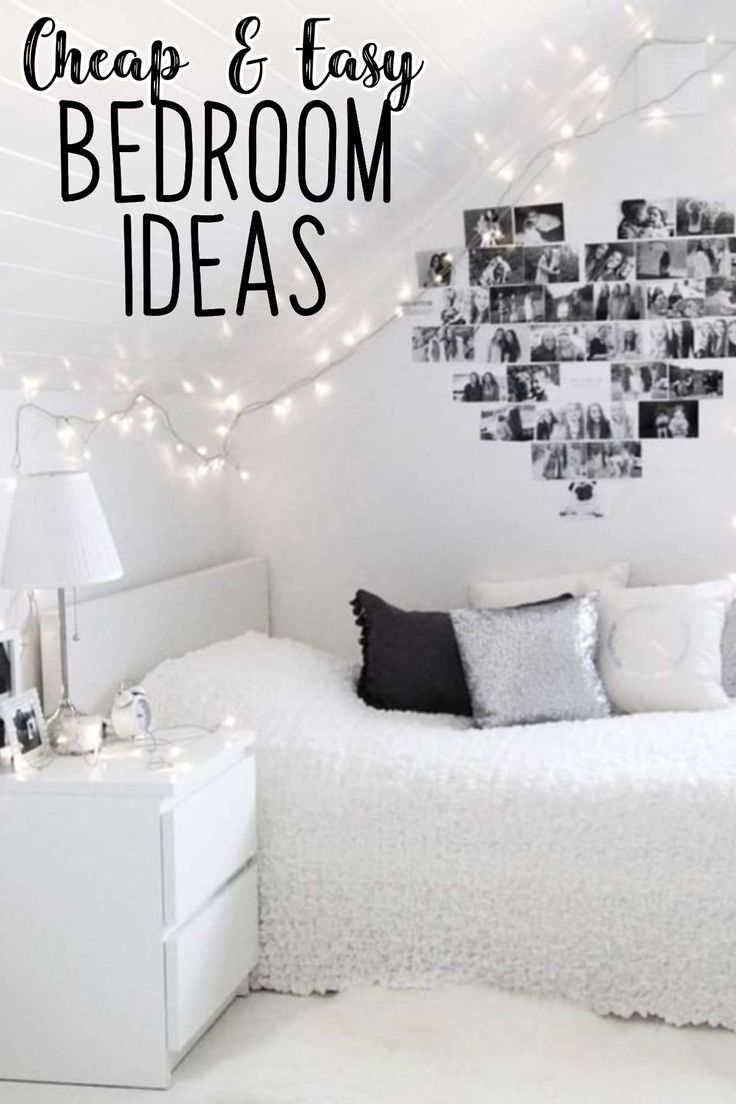 How To Decorate Your Room Without Buying Anything Simple Bedroom White Room Decor Wall Decor Bedroom