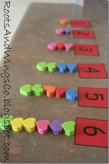 February and Valentine's Day Math Preschool Lesson Plan