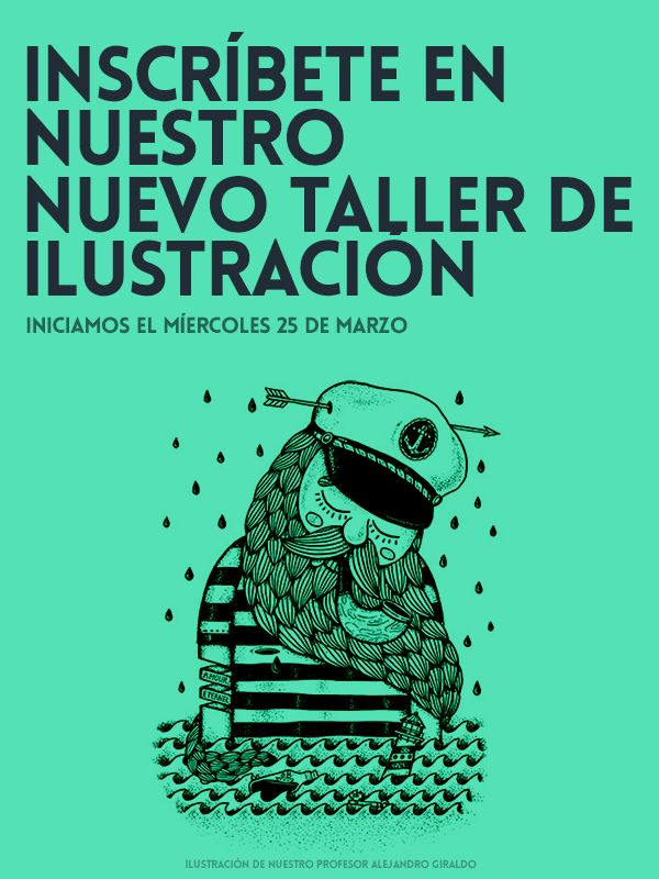 Aprende a ilustrar de la mano con TAG.  Ilustración de nuestro profesor Alejandro Giraldo http://tallerartegrafico.com/course/ilustracion/