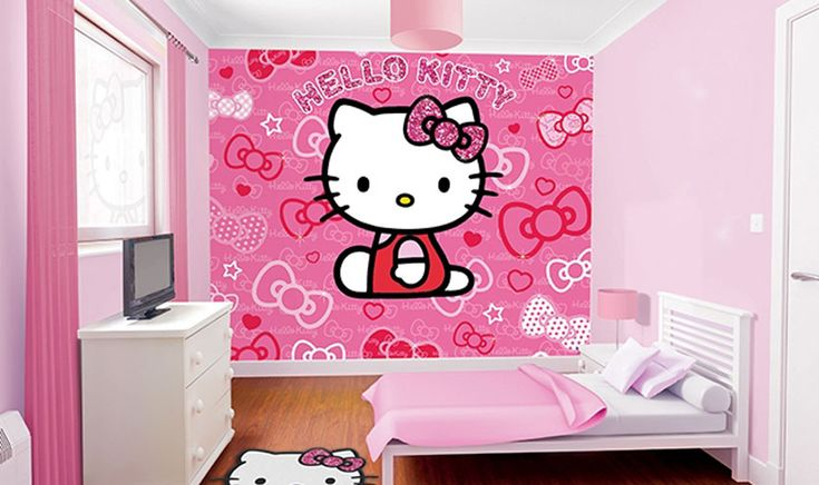 Bring everyone's favorite Kitty to a wall in your home with this Hello Kitty Mural. It's printed with the latest technology, high quality design and quality at an affordable price.