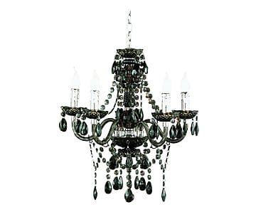 Lampadario a 4 luci luster nero - d 52/h 150 cm 99 euro