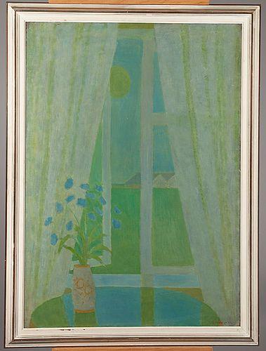 Veikko Vionoja: Kesäyönikkuna, 1958, öljy kankaalle, 106x76 cm - Bukowskis