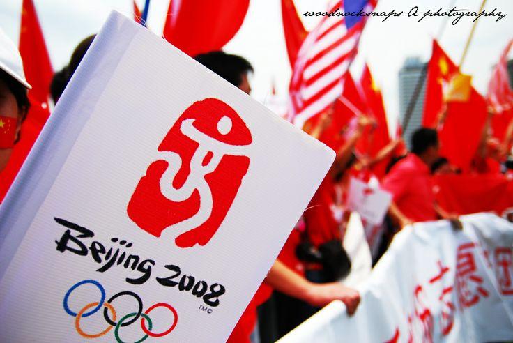 Beijing Olympics Torch Relay Run