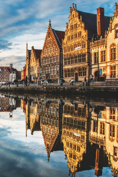 Ghent, Belgium (by Lucien Vatynan) - spent many hours here while I was a student. Great place in summer to lounge in the sun and have lunch